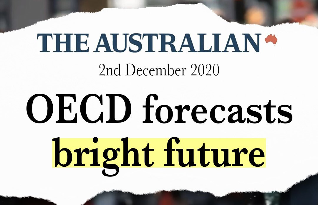 Australia's economic growth outlook for 2020 has been upgraded by the OECD ⬇️