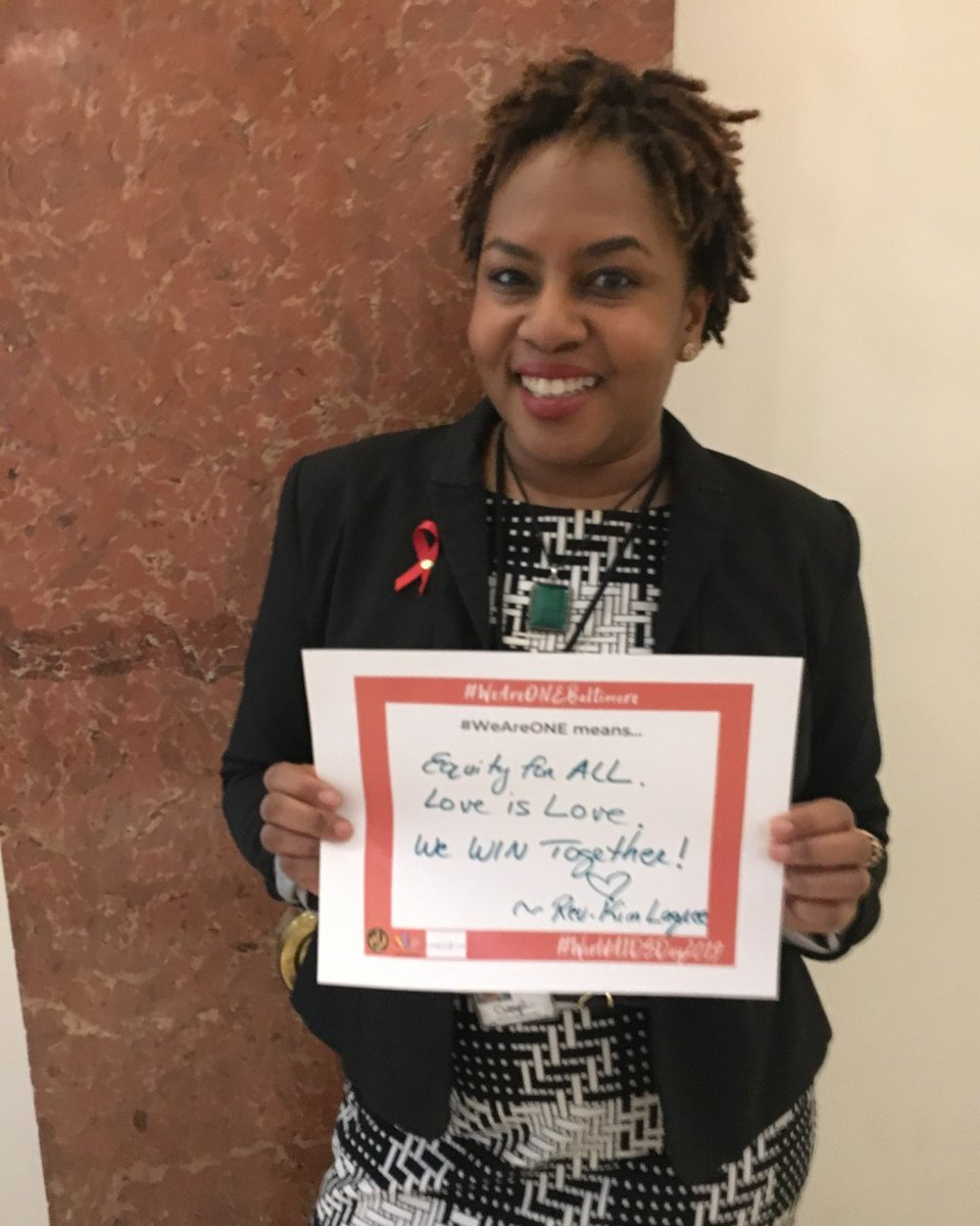 "#WAD2019's theme was #WeAreOne. We asked attendees at our World AIDS Day reception last year to answer what this means to them.  #WeAreOne means... ""Equity for ALL. Love is love. We WIN together!"""