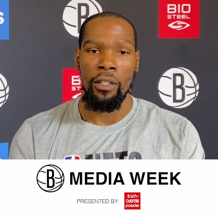 """""""Our only goal is to be the best version of ourselves every single day...Only the people in this building matter.""""  Hear from @KDTrey5 on the first day of Training Camp 🎥  #BKNTrainingCamp ▪️▫️ @sunchlorellausa https://t.co/DFudAqbQcA"""