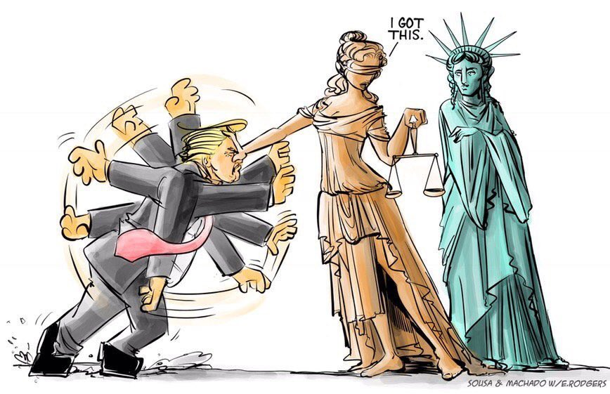 """Just for thought. First, the #CorruptGOP should've done the right thing, and #ImpeachedTrump. Instead of leaving it up to US to #VoteHimOut. Most innocent people don't need #Presidential #pardons. Unless your name is """"Trump"""" or """"Tuck it Giuliani""""...They'll need it.🌊 #PardonGate"""