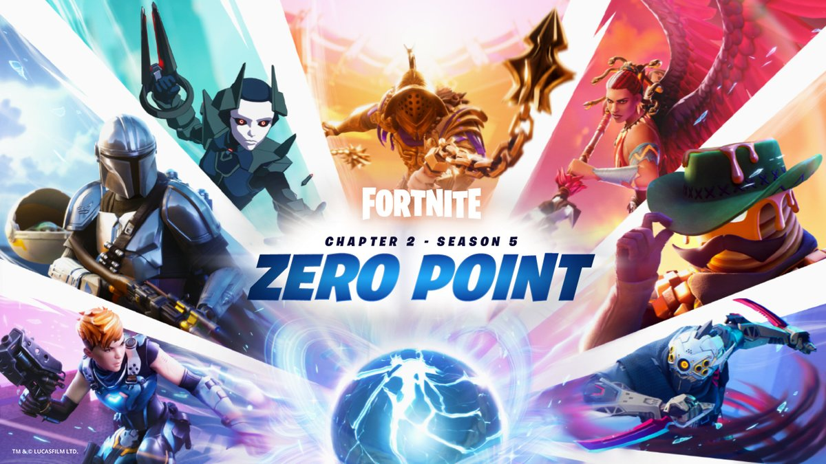 The Zero Point is exposed, but no one escapes the Loop, not on your watch.  Recruit the greatest hunters across all Realities to stop the Island from falling into complete Chaos.  #FortniteZeroPoint