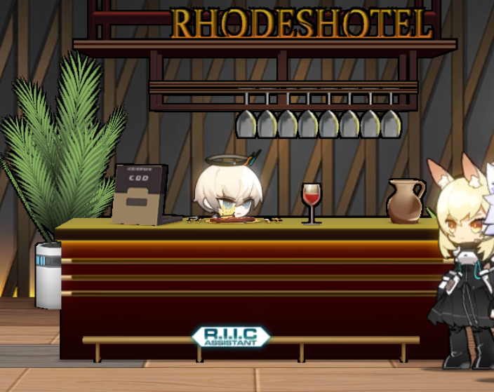 welcome to rhodeshotel bar what the fuck u want?