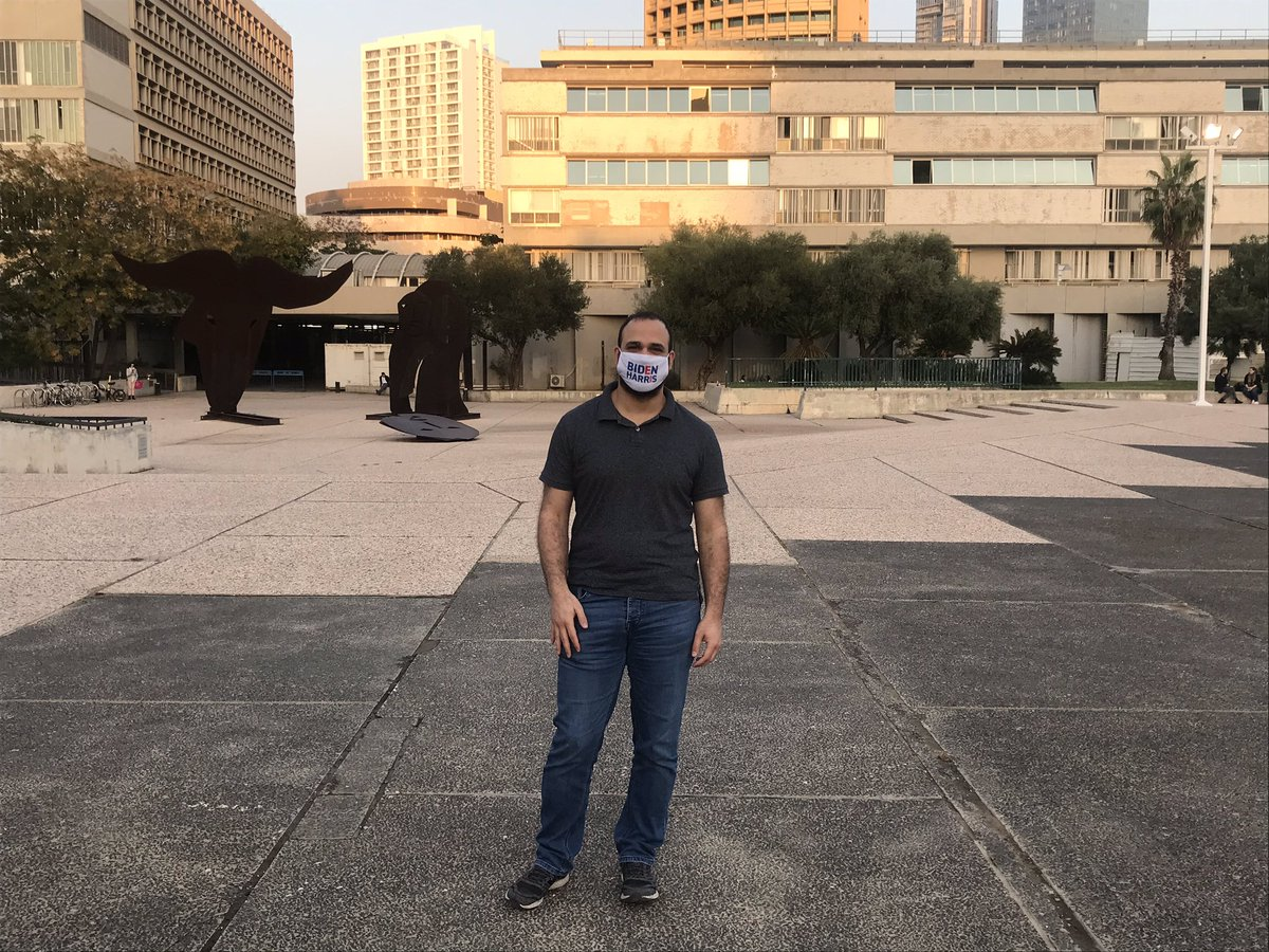 One of our followers sent us this picture of our #BidenHarris2020 mask in Tel Aviv, Israel. Love it!  #WearAMask
