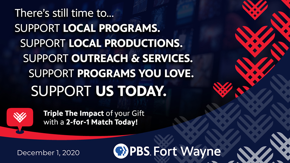 Even though #GivingTuesday is winding down, there's still time to make a donation.... Call our pledge line at 866-969-2721 go online to  by midnight tonight and triple the impact of your gift with a 2-for1 match... #UnleashGenerosity!