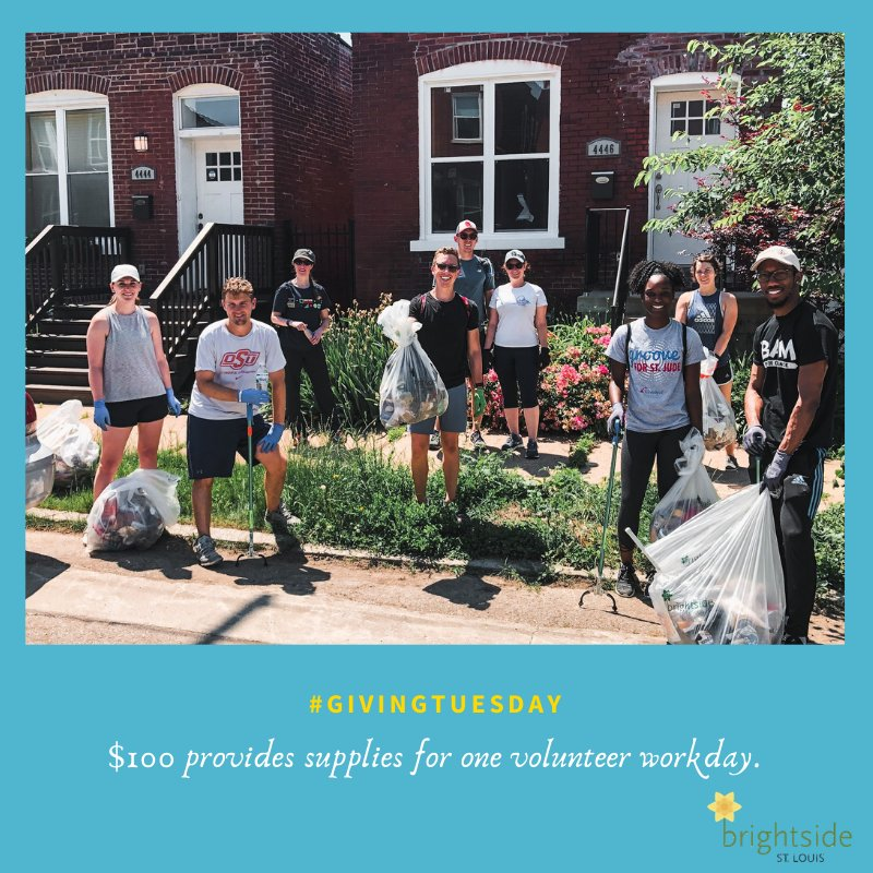 We love seeing neighbors giving their time and dedication to keep their communities clean! You can see how good the Forest Park Southeast Neighborhood felt after a socially distanced block clean-up. #GivingTuesday #BrightsideSTL #UnleashGenerosity#STL