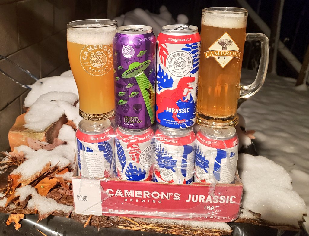 SUPPORT YOUR LOCAL BREWERIES!!! With keg sales off the taps for all now-closed Toronto and Peel bars (with Halton, York and Peel Regions likely to follow), your breweries need you!! Here's my case of @CameronsBrewing Jurassic IPA and a side-six of Across The Galaxy Hazy IPA. https://t.co/p0McCCSekF