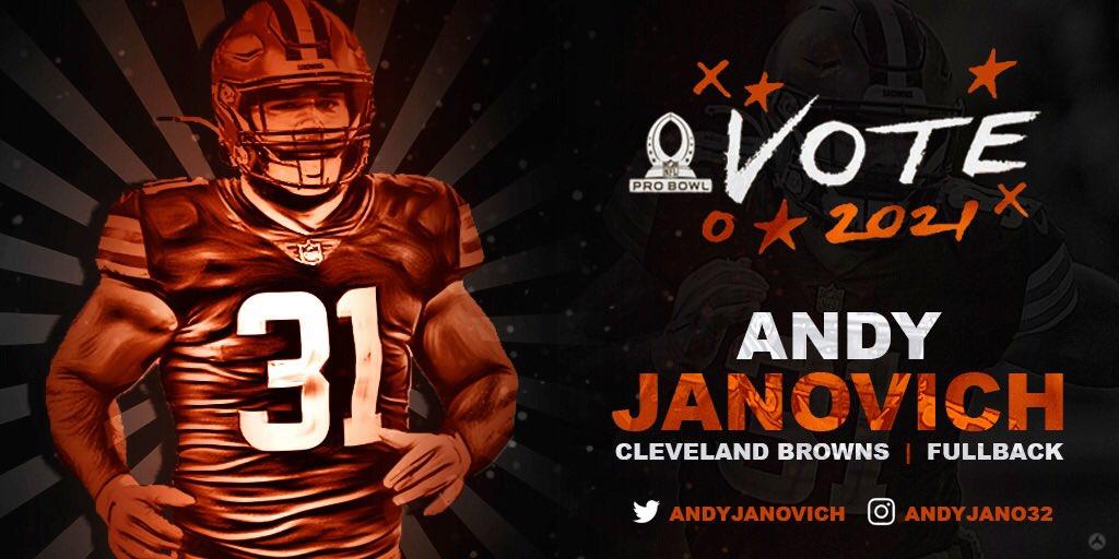 Replying to @AndyJanovich: RTs = Pro Bowl Votes!  #ProBowlVote + @AndyJanovich