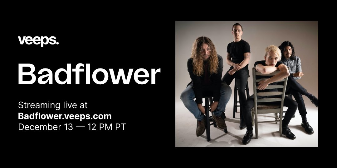 """We're excited for an """"evening of music & misery"""" with the guys of @Badflower for their #ChristmasisCancelled special livestream event on 12/13! Tickets on sale now."""