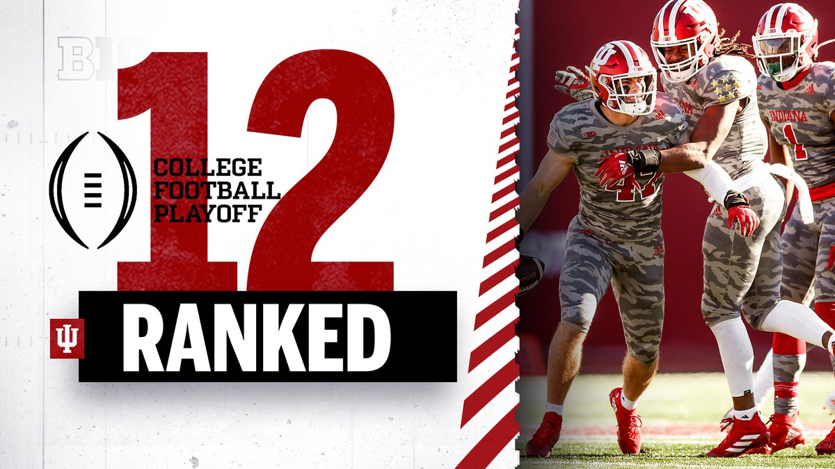 #IUFB checks in at No. 12 in this week's #CFBPlayoff rankings.