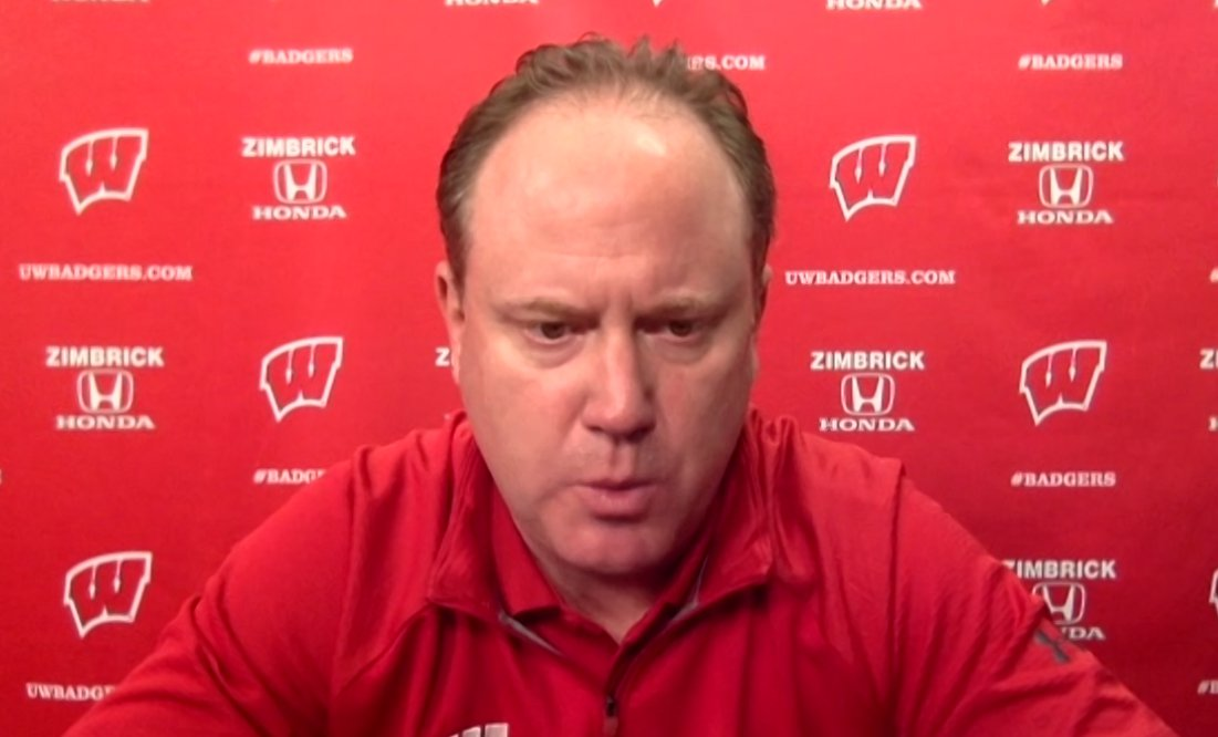 """Greg Gard after the #Badgers 82-42 win.  """"What we did on the defensive end ignited us pretty well."""""""