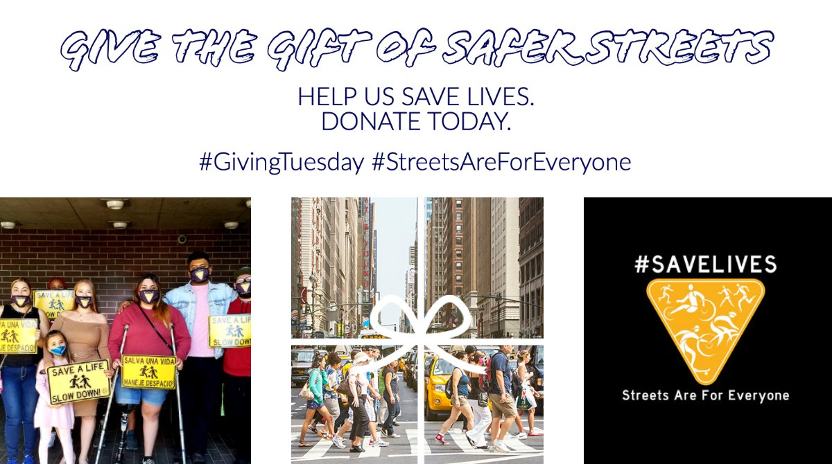 Give the gift of safer streets this holiday season! Today is #GivingTuesday.   Donate today at   Happy Holidays!!  #givingtuesday #givingtuesdaynow #nonprofit #donate #charity  #givingback #community #giveback #fundraising #charitytuesday #helpingothers