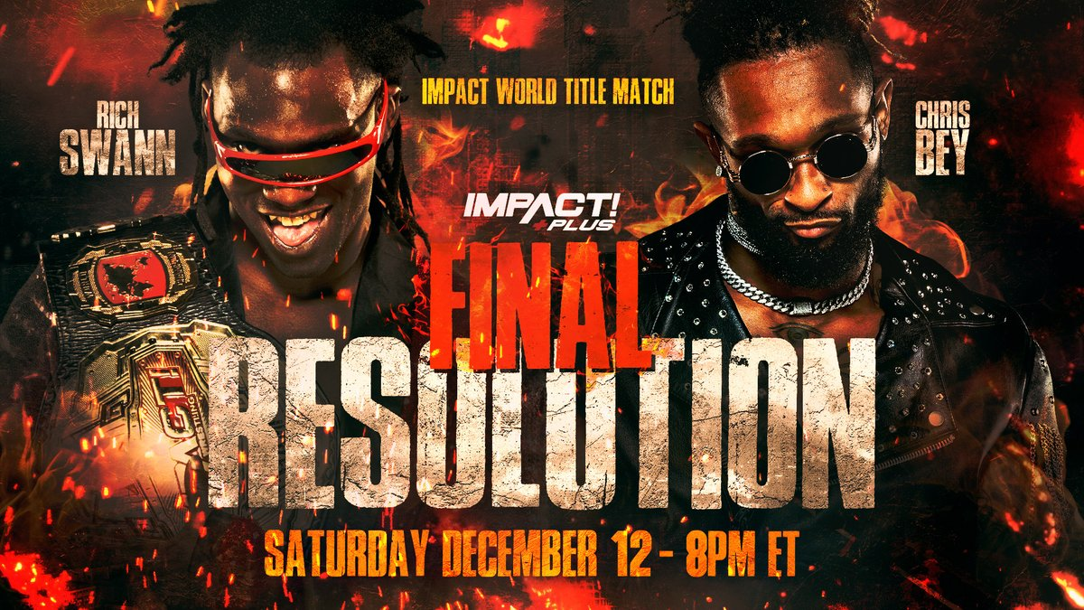 "Rich Swann To Defend World Championship At Impact's ""Final Resolution"" Event"