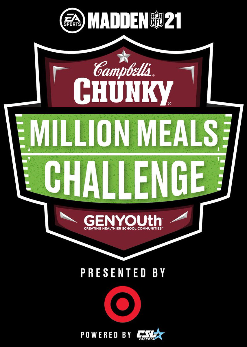 Do you #GameForGood?Registerfor theChunky MillionMealsChallengepresented by @Target to benefit@GENYOUthNow &the more than 30m kids who rely on school meals every day. Visit  for info on how to register.#championsofchunky