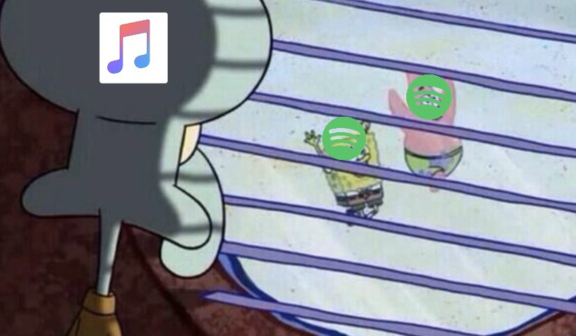 apple music users watching everyone talk about their spotify wrapped