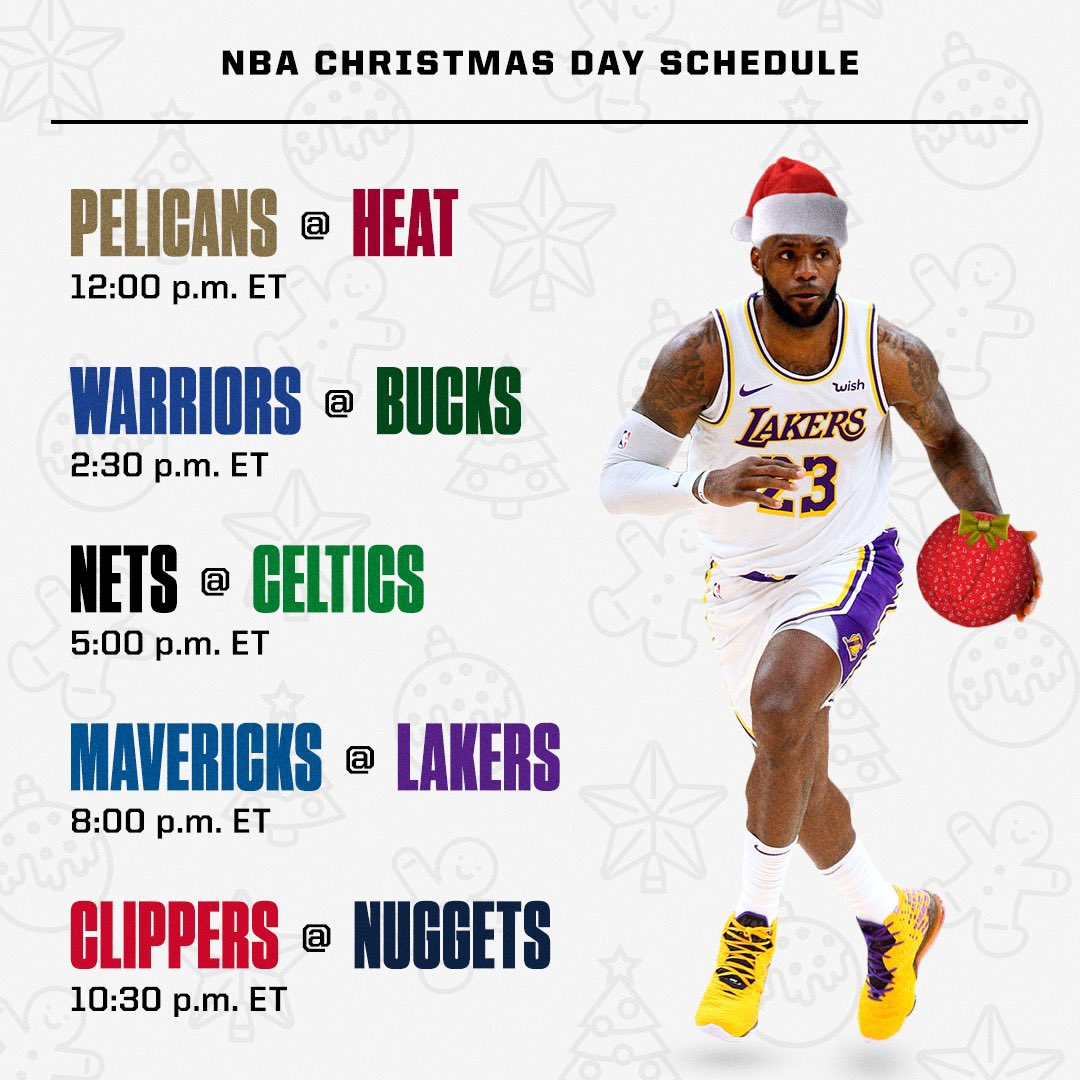 ESPN Sources: Tentative Christmas Day Schedule https://t.co/MId025HKvB
