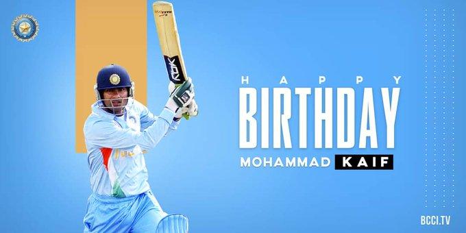 Outstanding fielder Gritty batsman Here\s wishing Mohammad Kaif a very happy birthday.