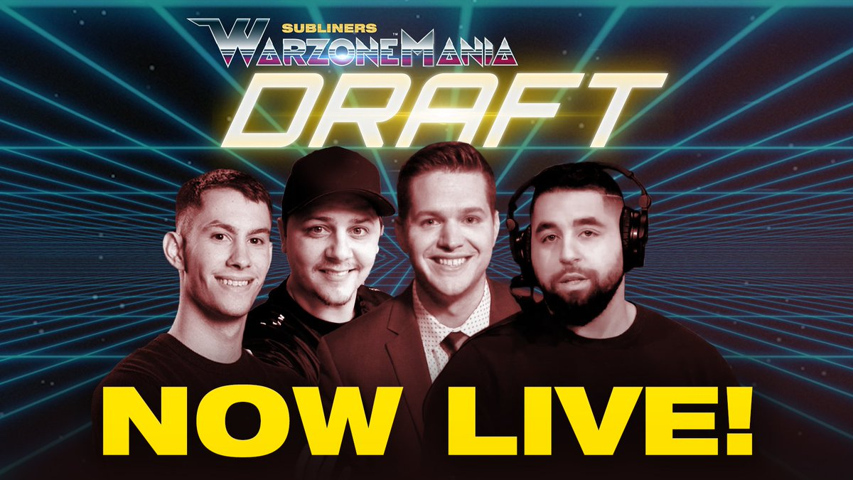 The #NYSLWarzoneMania draft is live with @MLGPuckett, @NAMELESS, @JGODYT and @Boble.  Who will be the first players off the board?   Tune in to find out: