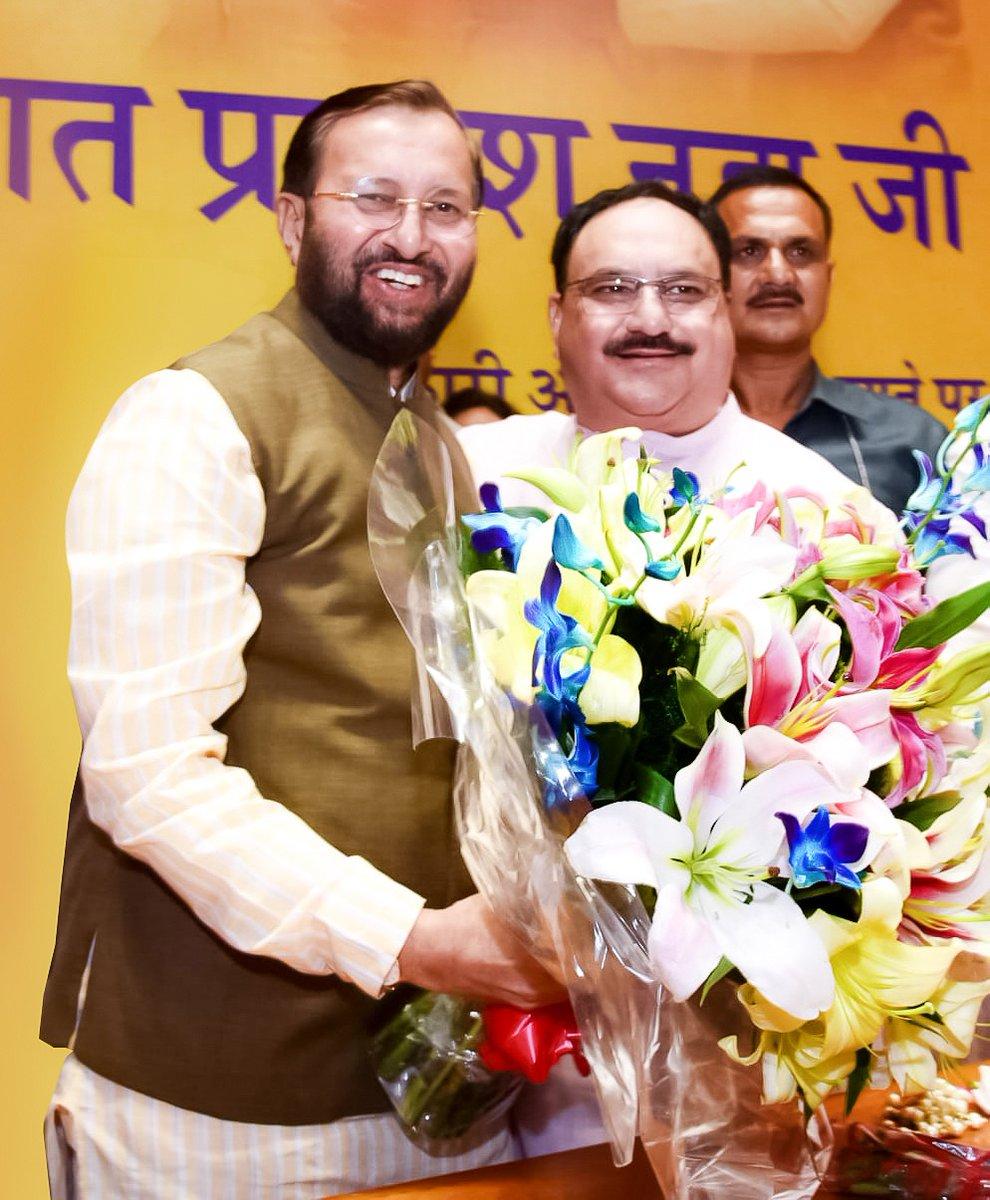 भारतीय जनता पार्टी के राष्ट्रीय अध्यक्ष, ऊर्जावान एवं यशस्वी श्री @JPNadda जी के जन्मदिन पर मेरी हार्दिक शुभकामनाएं। ईश्वर से प्रार्थना है कि आप दीर्घायु हों और सदैव स्वस्थ रहें।