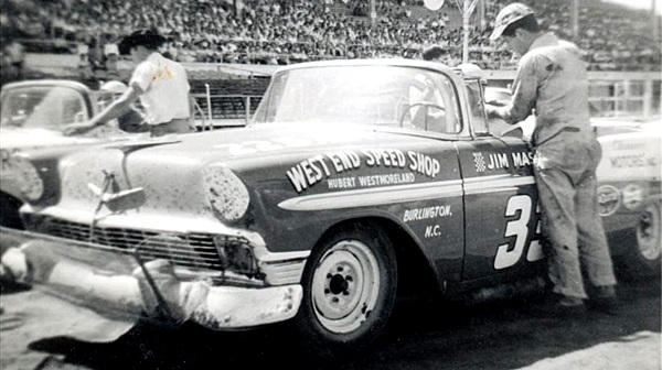 Jimmy Massey would have been 92 today #RIP Jimmy Massey won three @NASCAR Convertible Series races in 1956 driving Hubert Westmorelands Chevy. #MebaneNC 🏁