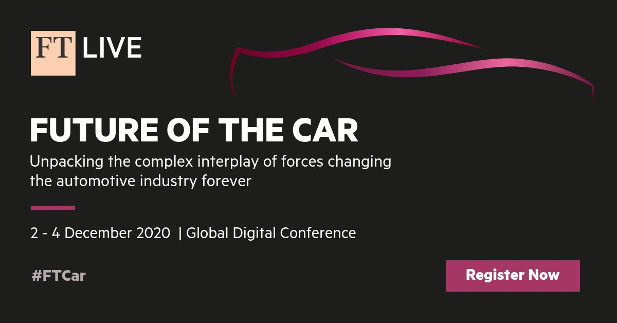 A warm welcome to everyone joining us at today's #FTCar: https://t.co/kBZhfwZnEk together with @Dassault3DS, @ericsson, @ADI_News, @KordsaOfficial, @Qualcomm, @McKinsey, @AutomobiliPinin, @centricaplc, @Commsignia, @GEFCO_Group, @HitachiEurope, @ZeroLight, @NXP, @HoganLovells https://t.co/1urmyep9j6