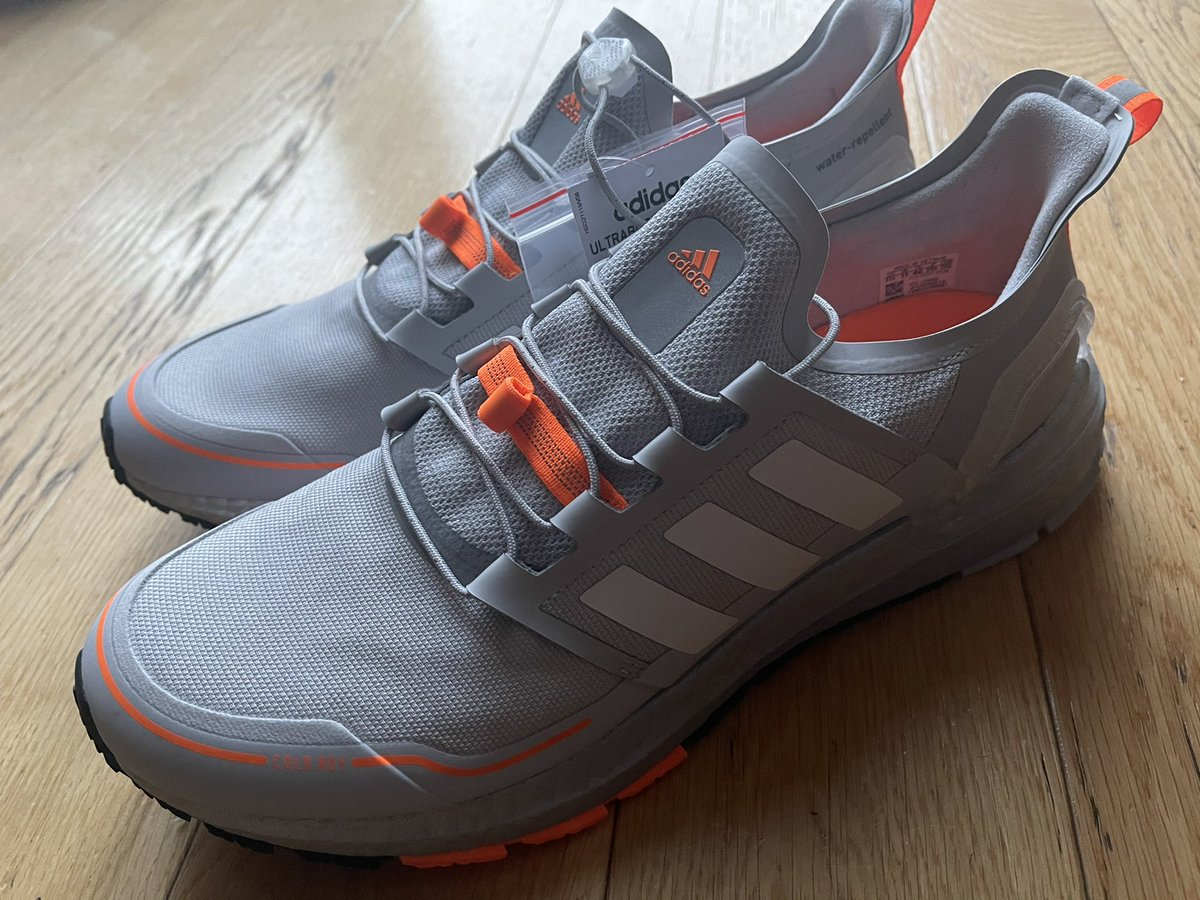 New trainers have caused me so much excitement this morning ! @adidas #adidasrdy good in the wet!