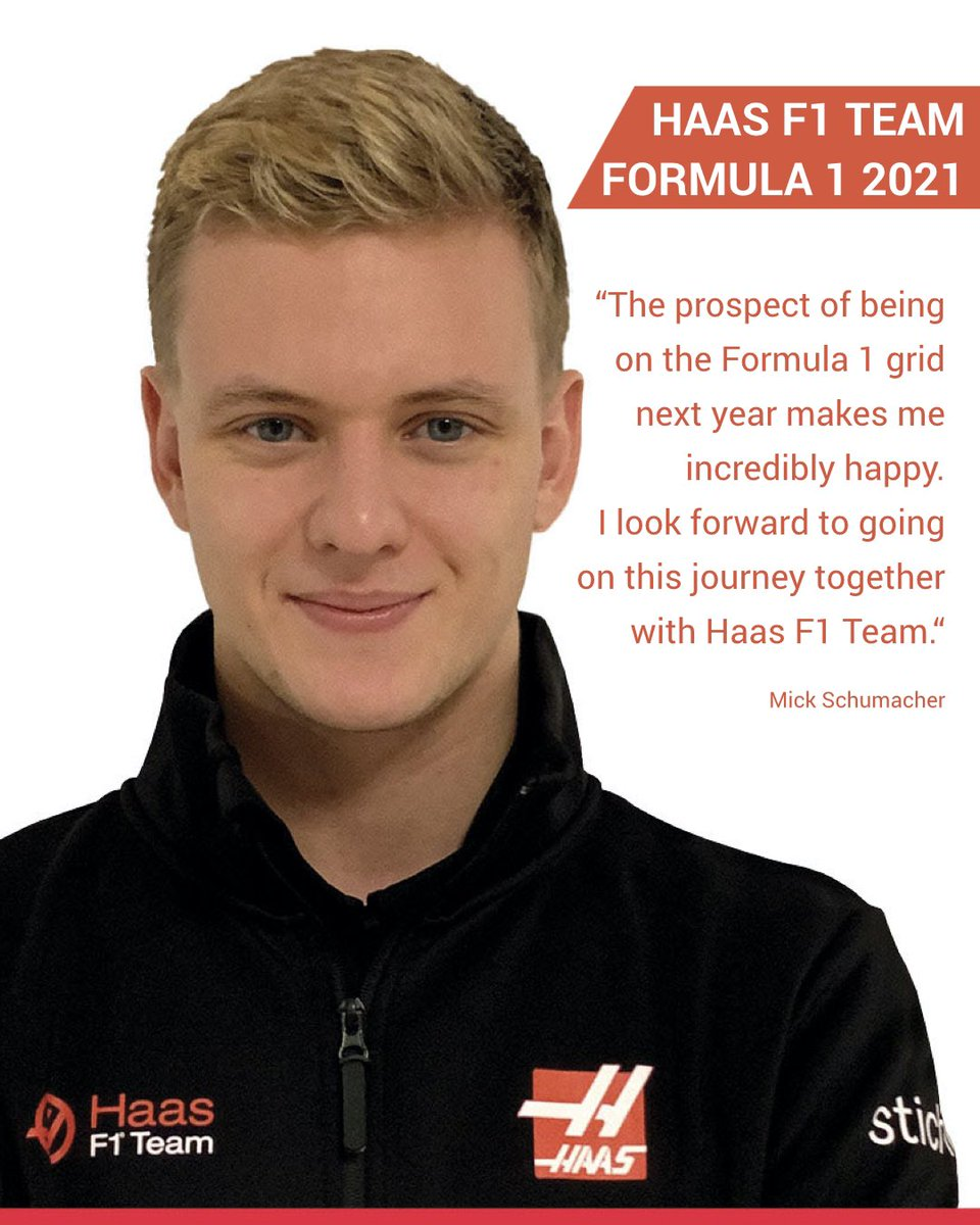 Welcome in F1 Mick. You will be racing with some incredible leçon in the team. Look after them and they will give it back to you at 1000%