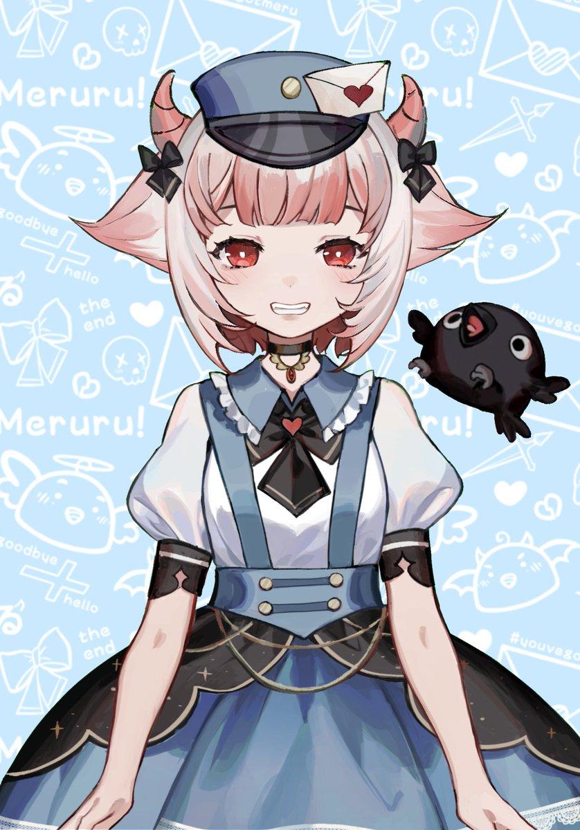 To: ~ ノック! ノック! it's Death's #1 Messenger, Matsuro Meru & best crob, Muni here for your delivery! 📬🖤 ✎〖Art/ファンメール〗⤑ #FanMeru ✄〖Emoji〗⤑ 💌 ✐〖Mama〗⤑ @Kaneblob Please sign here to die ^^ _______________________ Love, Meruru~ 🖤📮 #Tsunderia #TsunQuest