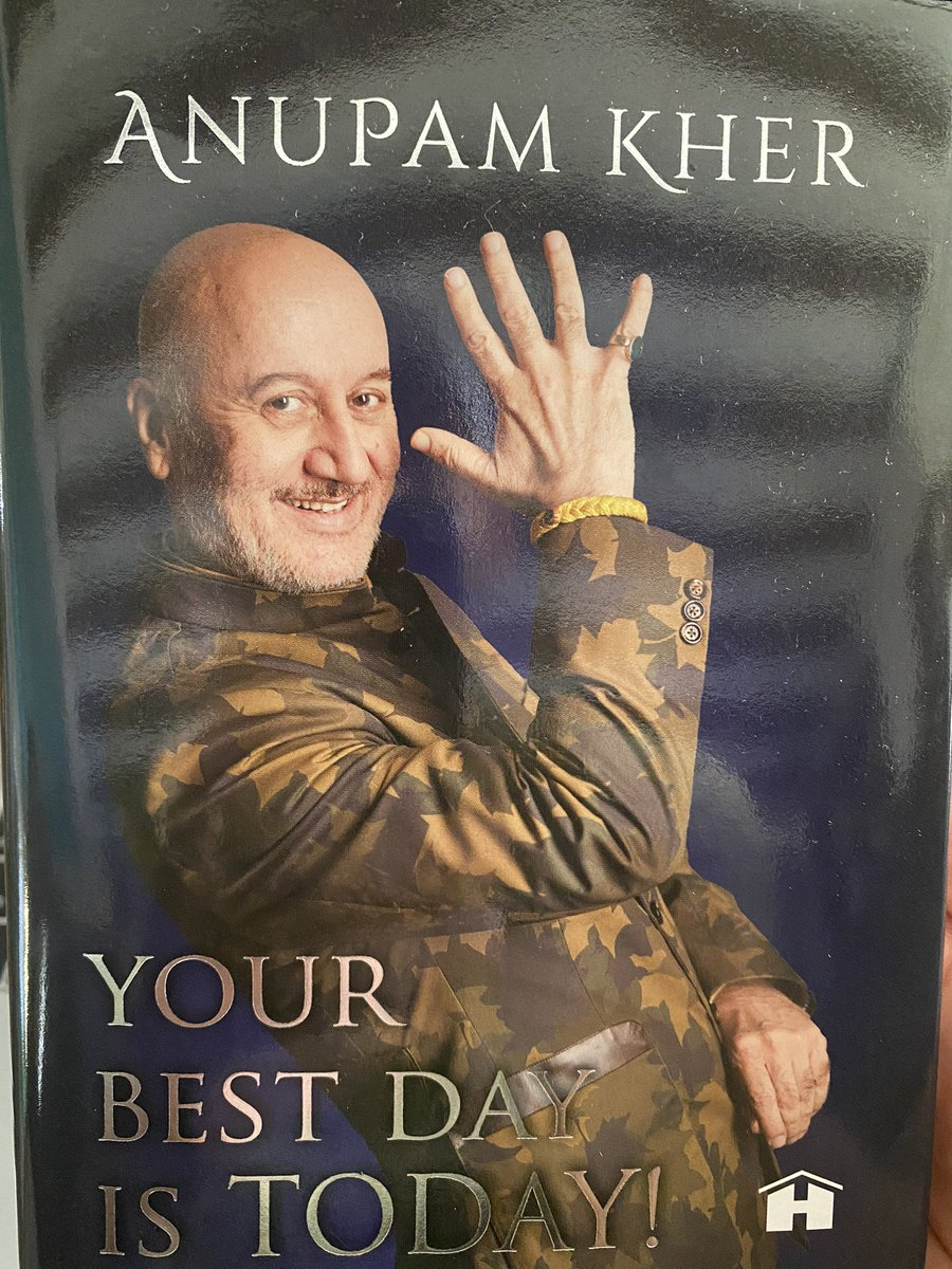 Thank you so much for this beautiful gift sir 🤗 it's so thoughtful of you by writing my mom wife n my daughter's name on it. I told my mom n wife they both were so happy, Anayra jab badi hogi to she will b very happy 😍 #YourBestDayIsToday #Anupamkher