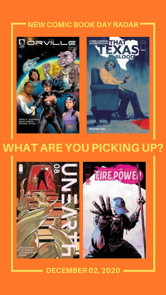What's on your radar for #NCBD today?    #comix #NewComicsDay #LCS #indiecomics #smallpress #thattexasblood #theorville #firepower #unearth #thor #batman #kinginblack