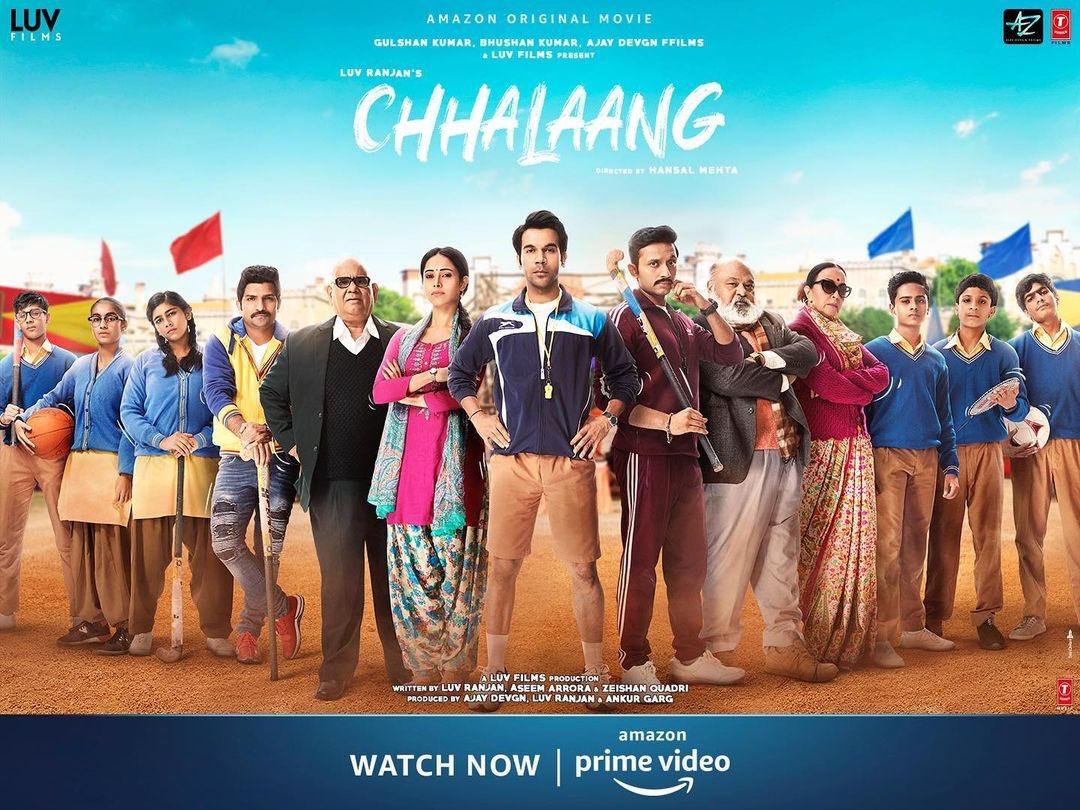 Saw #Chhalaang with family, Amazing & grt to watch! @mehtahansal kamal ho ji aap @RajkummarRao well done @Nushrratt loved you throughout the film fab job @satishkaushik2 @jatinsarna amazing work! @Mdzeeshanayyub brilliant work #saurabhshukla #ilaarun grt support! @PrimeVideoIN 👍