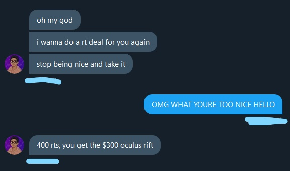 (!) ATTENTION (!) ‼️‼️‼️ Twitter, I really need your help for this!! The freaking amazing @twobitmedia1 just gave me a RT deal for the Oculus Quest 2 (will do MINECRAFT VR on stream!!) !! I need 400 RTs and if you could help me out here it'd mean a LOT to me :) <3333