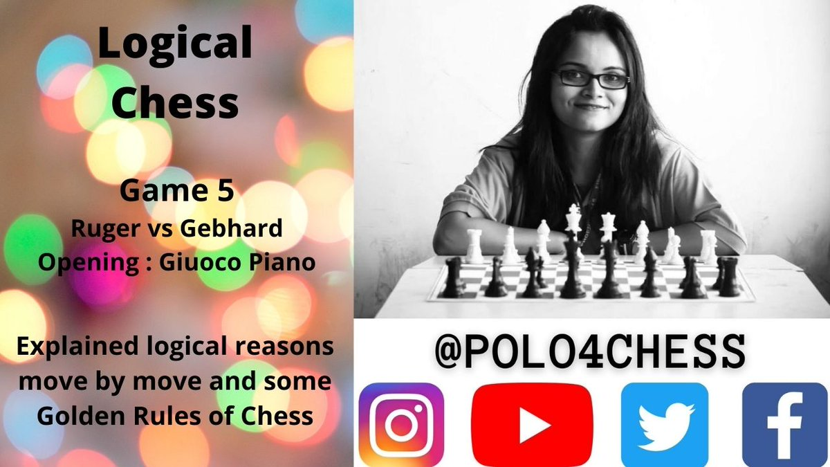 Logical Chess : Move by Move : Game 5 Explained  via @YouTube   #NewVideo #Chess #ChessVideo #Game5 #LogicalChess #PrinicplesOfChess #Castle #Polo4Chess