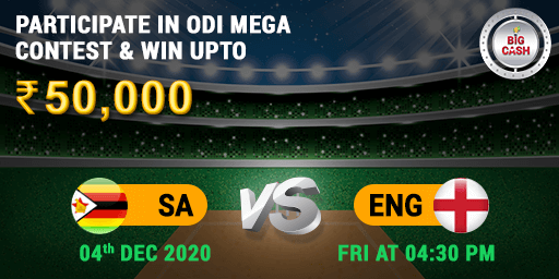 #ODI #SAvENG Eyes on the prize! 🤩 Who will claim the Pool Prize: 50,000?  Make your #BigCash 👉🏼  Join the action on 4th Dec at 4:30 PM  #YeApnaGameHai #cricket #fantasy #match