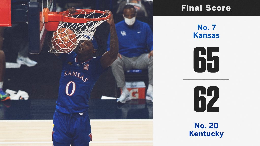 No. 7 Kansas pushes past No. 20 Kentucky to get the W 💪 https://t.co/SY9xqCKt2d
