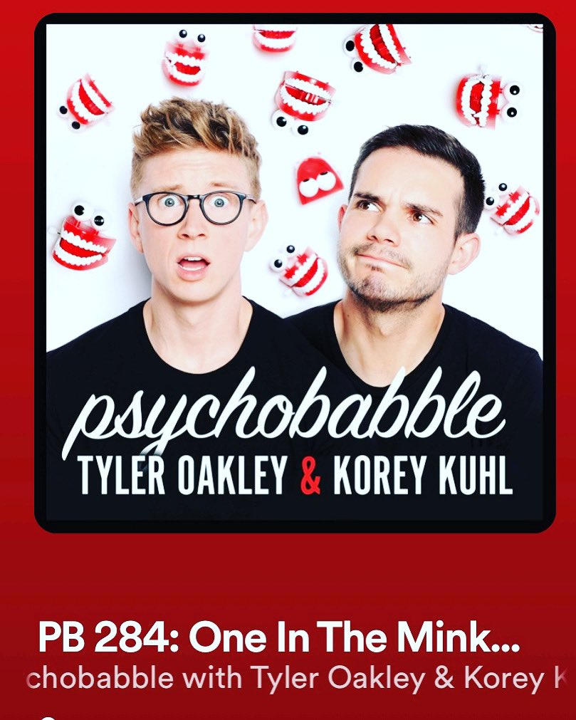 New #episode of my favorite #podcast @psychobabble with @tyleroakley and @koreykuhl. Listen on @spotify or wherever you listen to #podcasts. #psychobabble #podcastlife #podcasting #podcastinglife #podcastlove #podcastaddict #podcastcommunity #GRAMMYs #GRAMMYnoms #JakePaul https://t.co/9VkPZ4OoJI