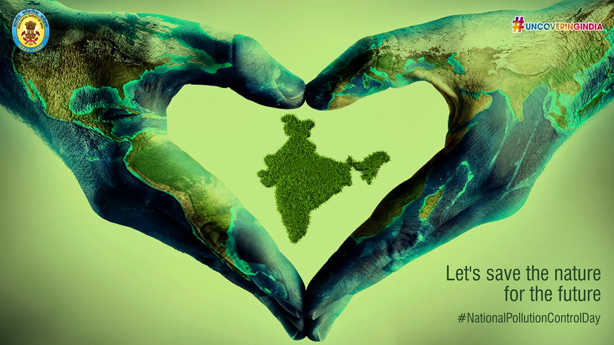 #NationalPollutionControlDay is celebrated on 2nd December to create awareness about the ill-effects of pollution on society and nature. The day is observed in the memory of those who have lost their lives in the Bhopal Gas tragedy on 2nd December 1984. #GSI https://t.co/WDV2ZfuzZS