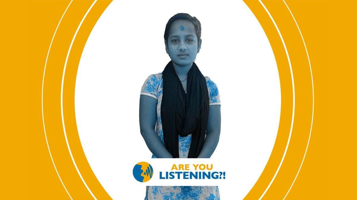 Amisha has not been to school since the lockdown began in India. 🗣️Now more than ever, we must ensure girls have access to education and can return to school safely. 📢    #areyoulistening #16Days