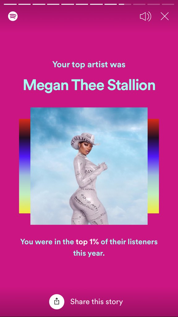 mfw having Spotify on while drawing made me in top 1% of people who listened the most to Megan Thee Stallion in 2020 Pls watch gundam @theestallion