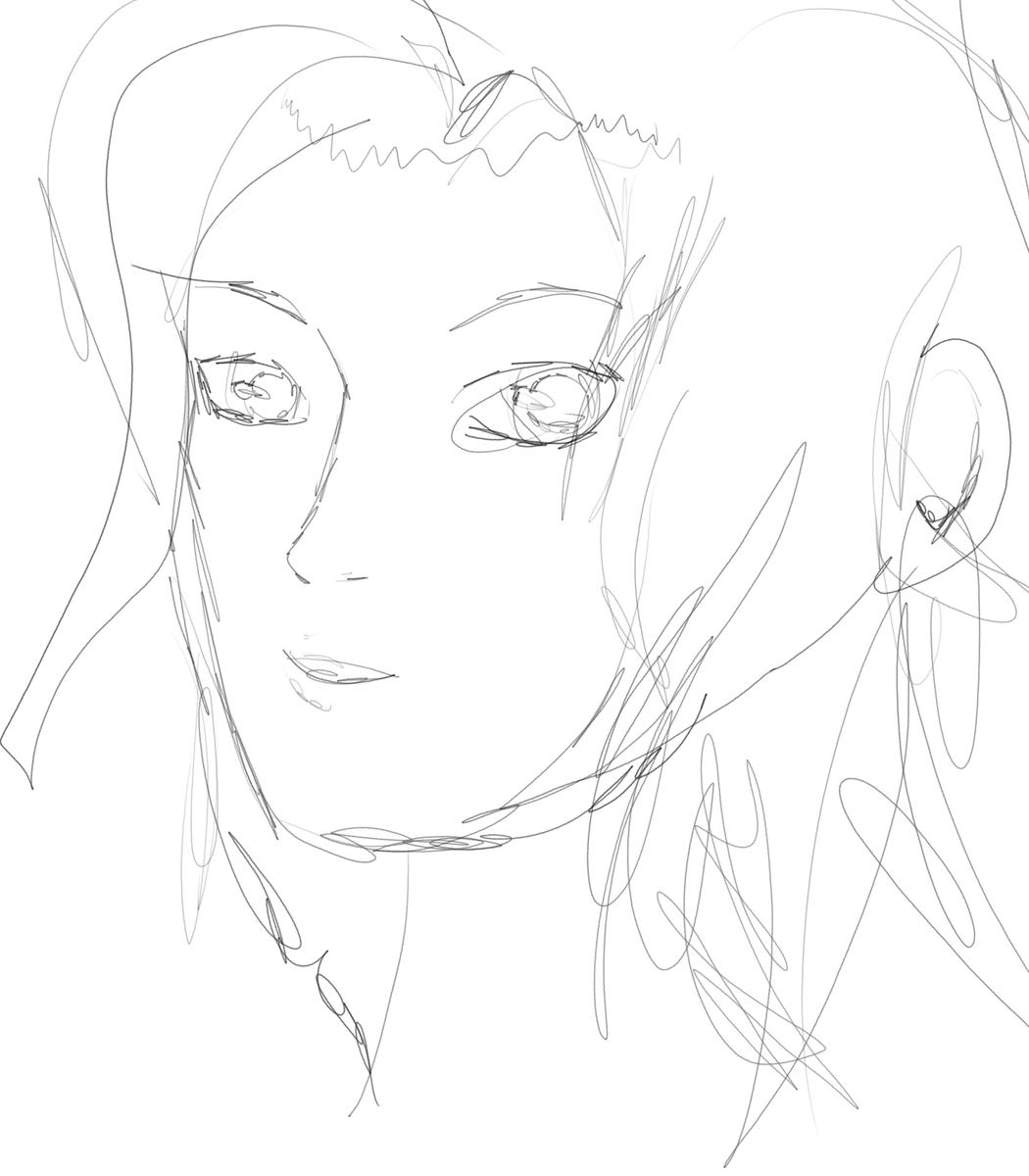 Just a quick face sketch for speed and accuracy. #art #anime #アニメ https://t.co/8jo5PyjmHP