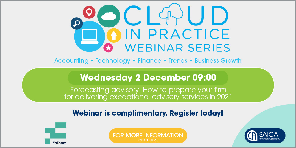 test Twitter Media - 💻Don't forget to join the 2020 SAICA #CloudinPractice webinar series this morning @09h00 and will run until 4 Dec. 'How to Prepare Your Firm for Delivering Exceptional Advisory Services in 2021'. Join the session at https://t.co/hlcKddXRua #SAICACloudinPractice2020 @fathomhq https://t.co/royNivxDrA