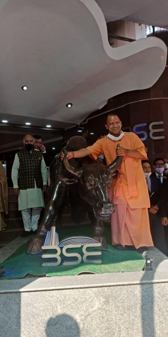 Today @myogiadityanath ji in Mumbai at @BSEIndia