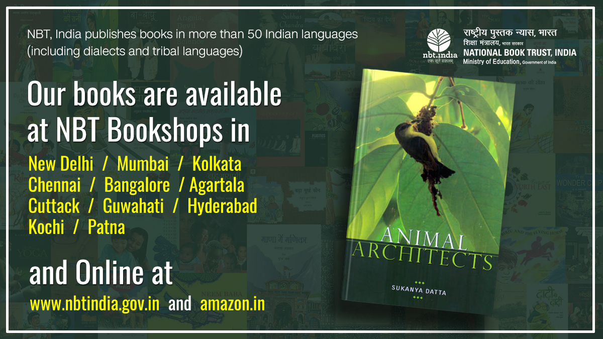 ANIMAL ARCHITECTS  SUKANYA DATTA | Paperback | English | Pages: 233 | Price: Rs. 285  Purchase online:   Our books are available at: NBT Bookshops |  | Amazon #NBTBooks #NBTIndia #Books #Reading