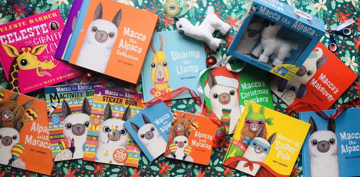 Not long until #Christmas now - and #books make the perfect #present. 📚🎄(And bonus: so easy to wrap!) There's heaps of Macca the #Alpaca books and MORE for the little readers in your life.   (Everything pictured here published by @ScholasticAUS & @scholasticnz)
