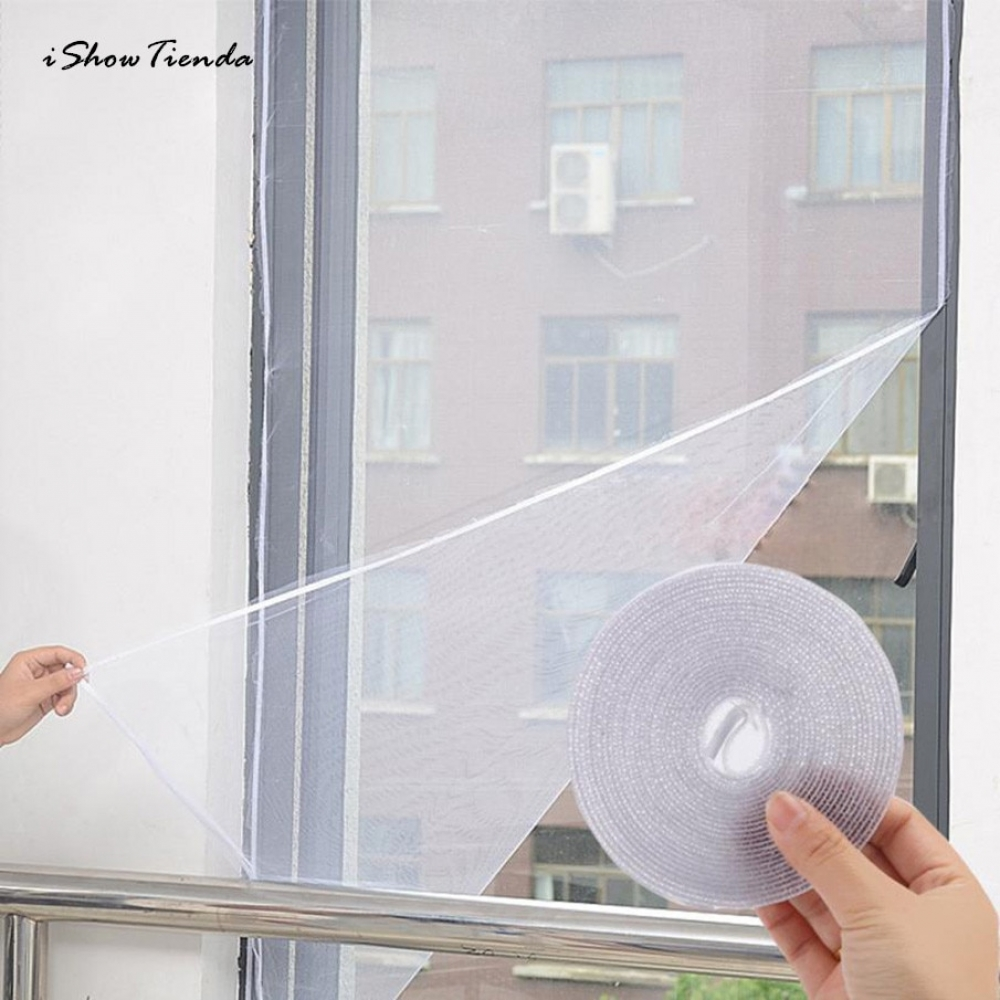 ISHOWTIENDA 1.3M*1.5M Self-adhesive Anti-mosquito Net Flyscreen Curtain Insect Fly Mosquito Bug Mesh Window Screen Home Supplies  #staysafe #practicesafetyguidlines #fashion #sport #tech #lifestyle