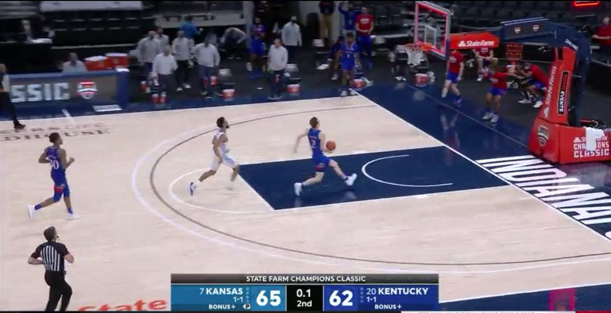 Just thinking about how angry gamblers were about to be at Christian Braun because the line was KU -4.5 in a lot of places today #KUbball