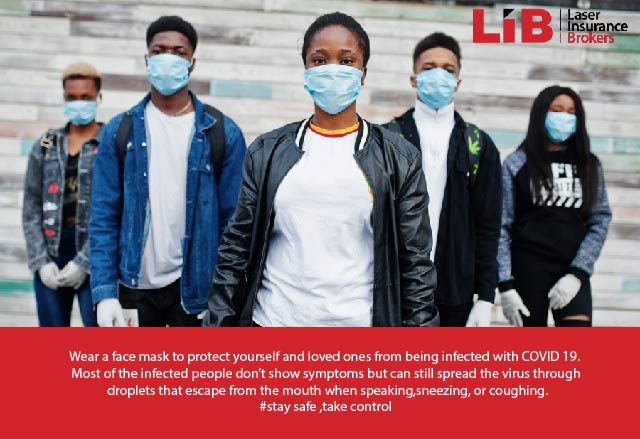 Wear a face mask to protect yourself and your loved ones from being infected with COVID 19. Most of the infected people don't show symptoms but can still spread the virus through droplets that escape from the mouth when speaking, sneezing, or coughing.#staysafe