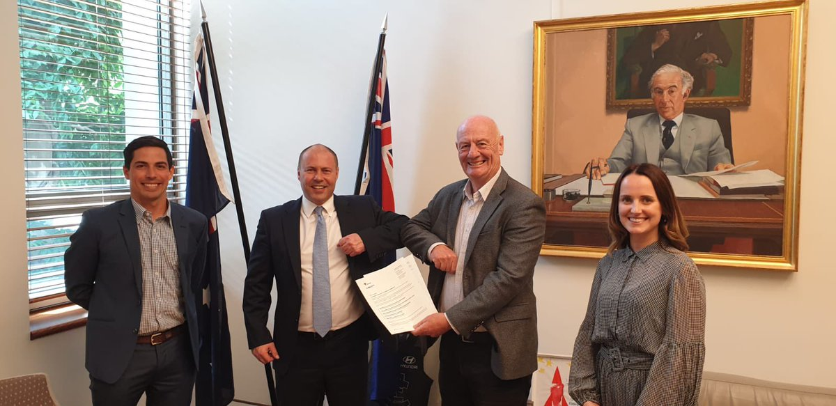 A great catch-up with Rev. Tim Costello, Matt & Bec from the @micahaustralia team who presented a letter of thanks to the Australian Government for supporting our regional neighbours during the #COVID19 crisis.