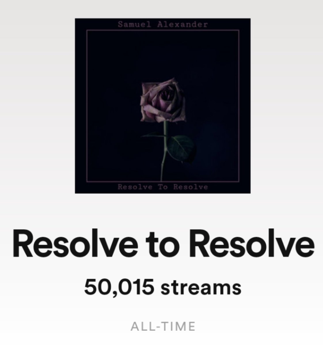 One track....50,000 STREAMS!!  When I started releasing music this year I never dreamt I would see anything like this!!   Thank you all for your incredible support!   #spotify #twitchstreamer #twitchmusic #futureofmusic https://t.co/maj8aoPjsO