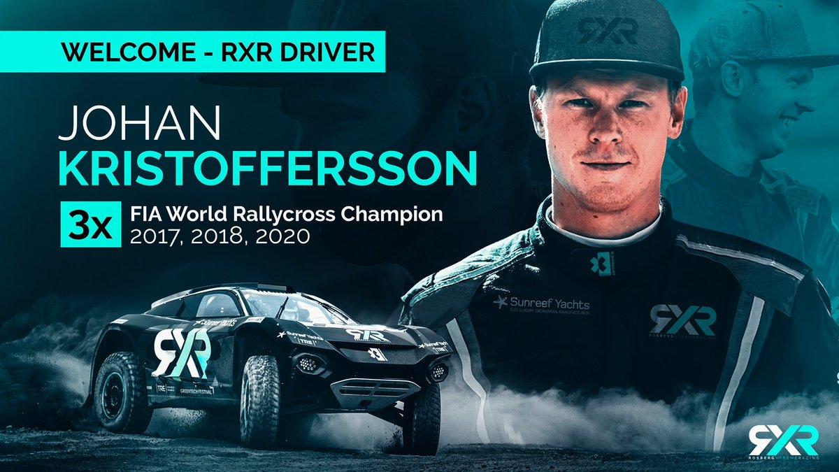 Welcome to @rosbergxracing, Johan! 🙌   #RXR #DrivenByPurpose @JohanKMS88