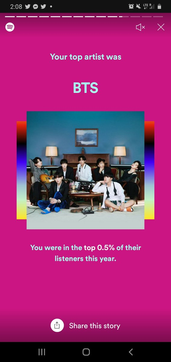 0.5%%%% now I know what I spent the majority of this year doing lol #QuaranteamBTS #SpotifyWrapped